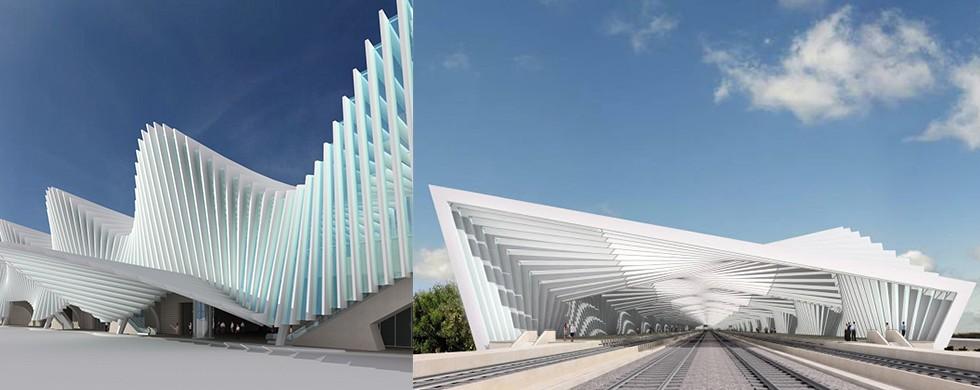 Reggio Emilia Station by Santiago Calatrava
