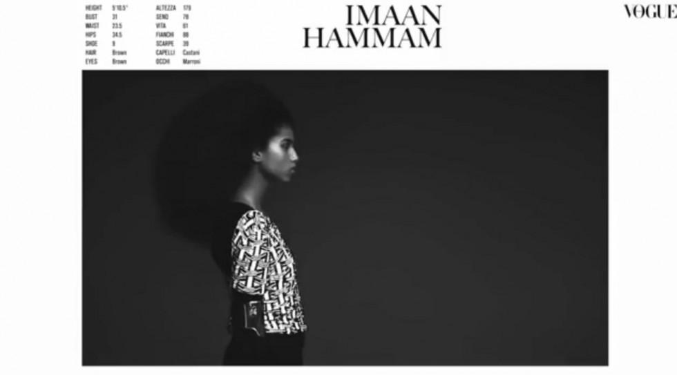 """""""Behind the scenes Vogue Italia December 2013-Resort Collections Imaan Hammam"""""""