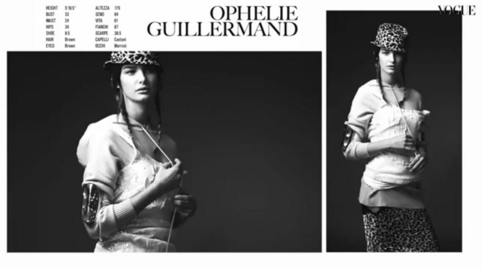 """""""Behind the scenes Vogue Italia December 2013-Resort Collections-Model Cards Ophelie Guillermand"""""""