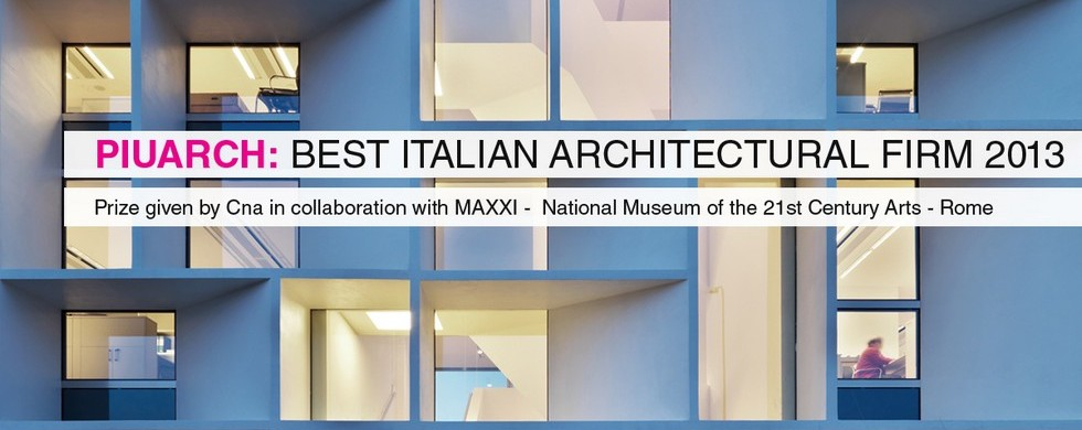 """Italian Architect 2013"" Award goes to Milan's Studio Piuarch"