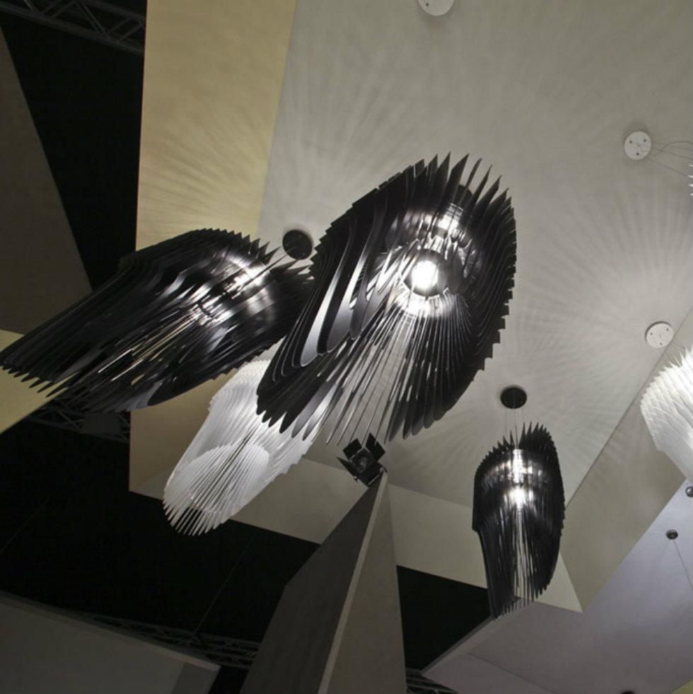 Slamp by Zaha Hadid milan design week 2014 Milan Design Week 2014 : 10 Hot lighting trends at Euroluce 2014 10 Hot lighting trends to see at Euroluce 2014Slamp by Zaha Hadid