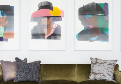 How would be a Milan apartment inspired in Andy Warhol Pop art?
