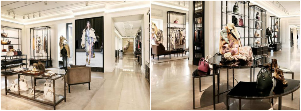"""""""In Milan's luxury avenue heart Burberry reopened at Via """""""