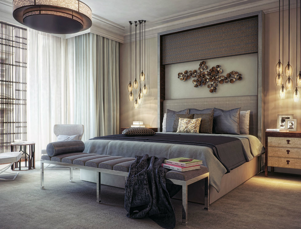 Master bedroom decor - great lighting ideas for hospitaliy industry lighting design ideas World's best lighting design ideas arrives at Milan's modern hotels Worlds best lighting design ideas arrive at Milans modern hotels Bedroom large