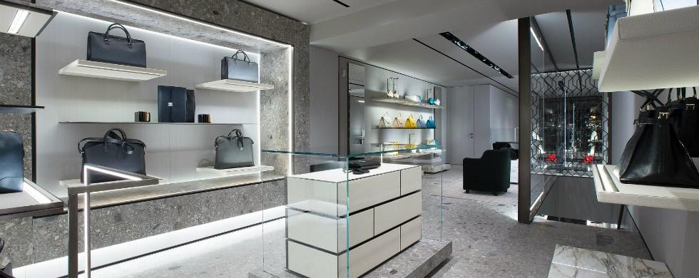 """Milan Fashion brands rising at New York Valextra at Madison Avenue"""