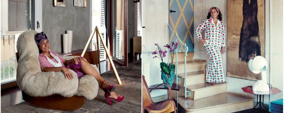 """Milan House Interior Design tour Nina Yashar, an unusual modernism"""
