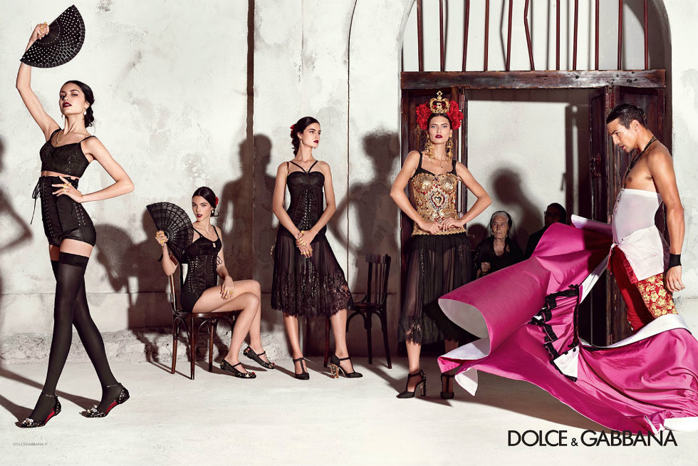 Milan Fashion Week 2015 Schedule don't miss a bit of Spring season-Dolce and Gabbana 2015 Spring Campaign