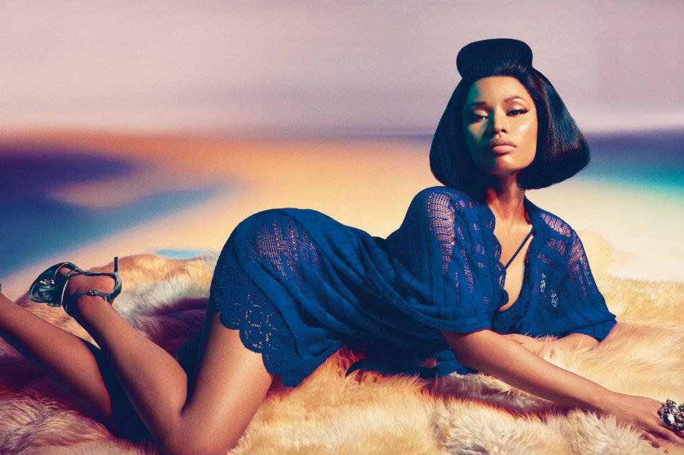 Milan Fashion Week 2015 Schedule don't miss a bit of Spring season-Nicki Minaj in her first High Fashion Campaign for Roberto Cavalli
