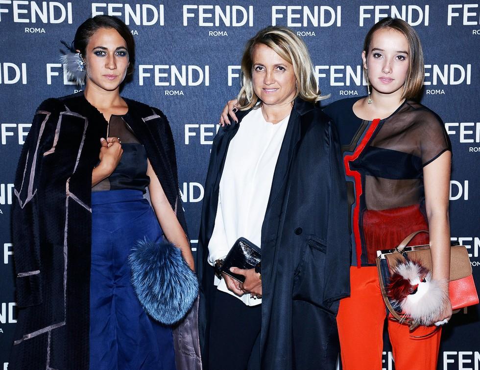"""""""Fendi-Exhibition-Opening-Silvia Venurini-Delfina Delettrez-Leonetta Luciano"""""""