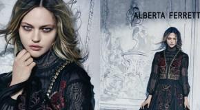 Italian Fashion Sasha Pivovarova fairy tale in Alberta Ferretti Fall-Winter 2015 ads-Alberta-Ferretti-2015-Fall-Winter-Ad-Campaign01 (3)