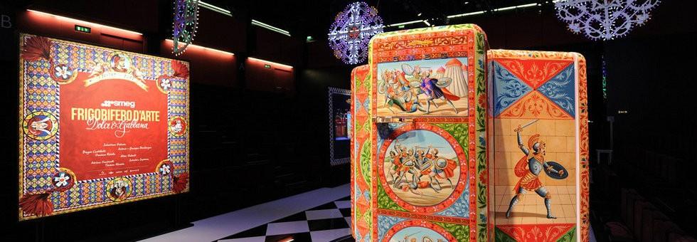 Dolce & Gabbana and Smeg project – bespoke hand painted fridges