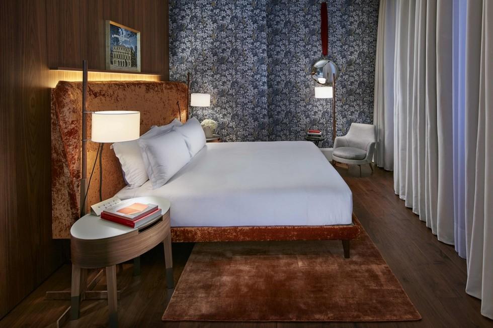 Milano Suite bedroom designed by Piero Fornasetti