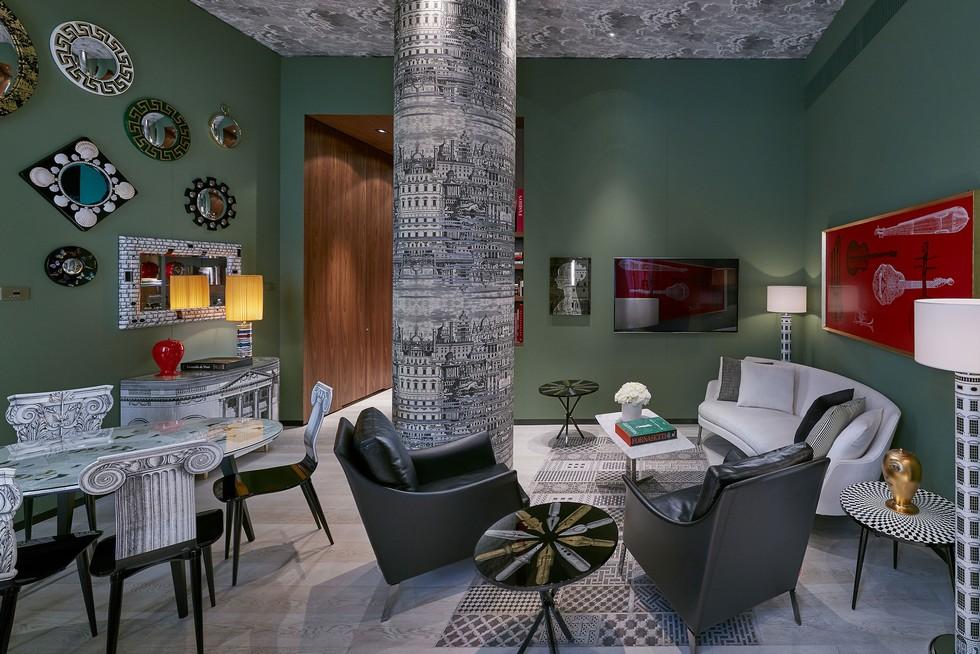 Milano Suite living room designed by Piero Fornasetti