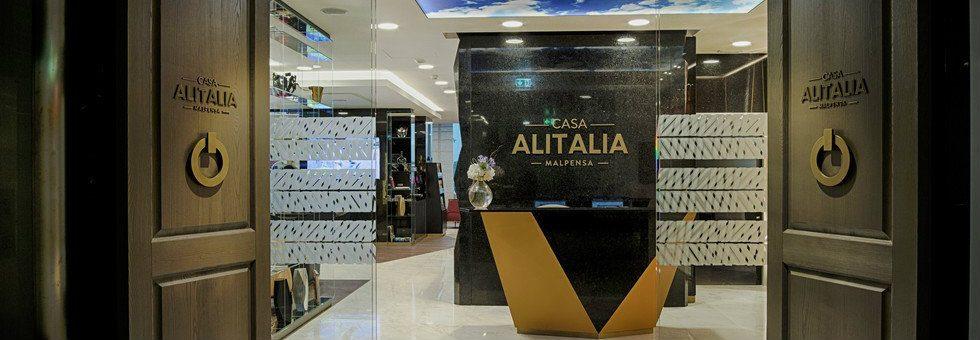 Marco Piva designed Casa Alitalia's Malpensa airport lounge