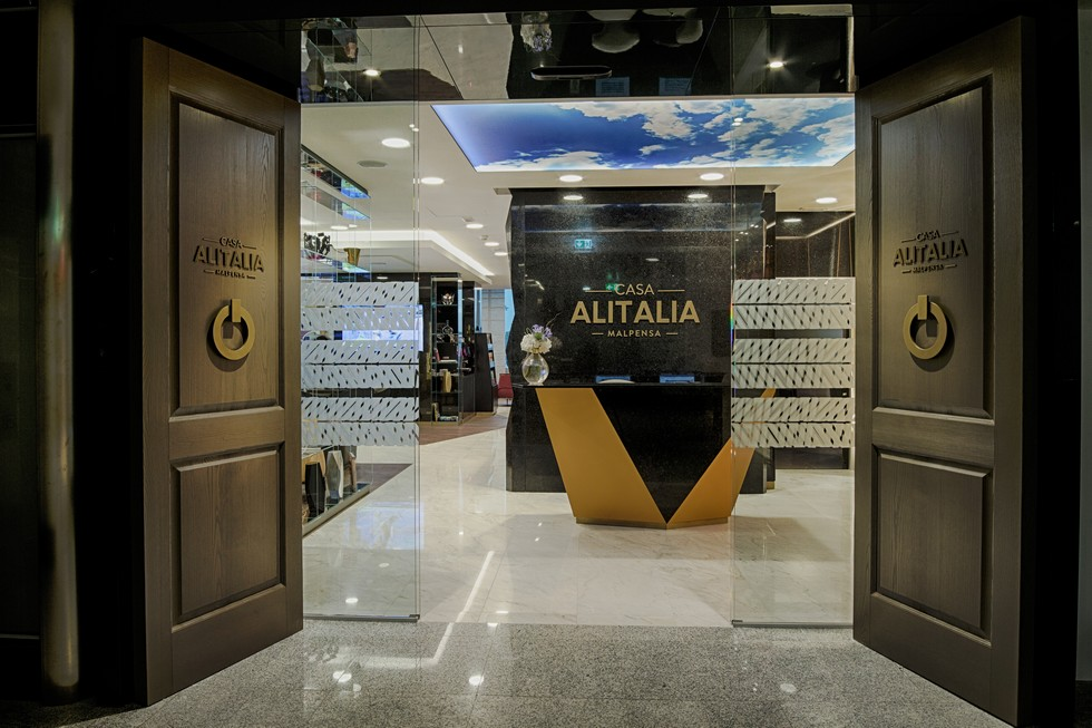 Casa Italia's Malpensa lounge entrance marco piva Marco Piva designed Casa Alitalia's Malpensa airport lounge Marco Piva designed Casa Italia   s Malpensa airport lounge 5
