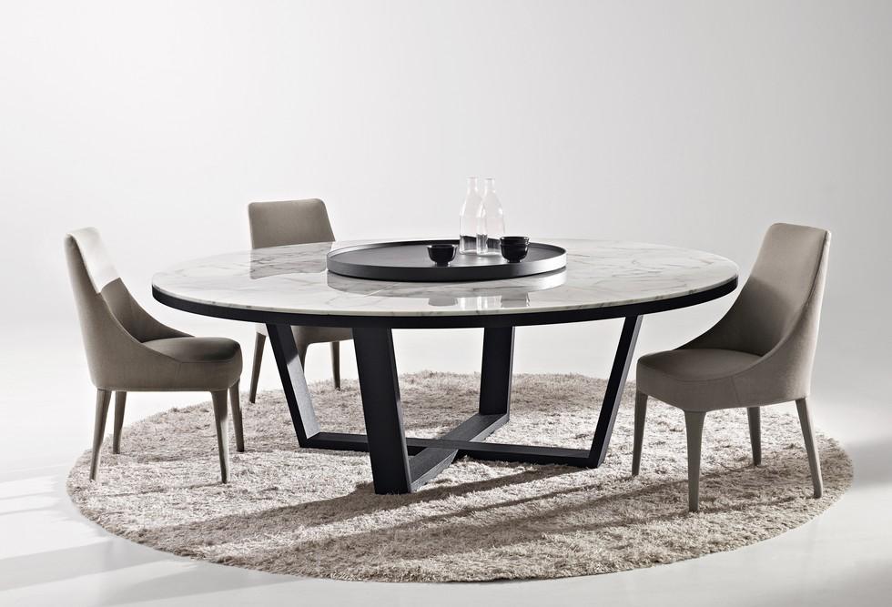 Xilos round marble dining table by Antonio Citterio antonio citterio Furnish your apartment with Antonio Citterio design pieces BBItalia Antonio Citterio XILOS round marble dining table
