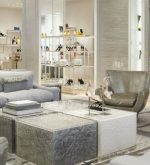 Milan fashion stores decoration next trend – metallic rage