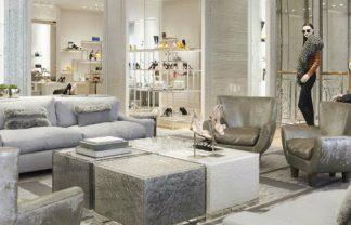 Milan fashion stores decoration next trend – metallic rage