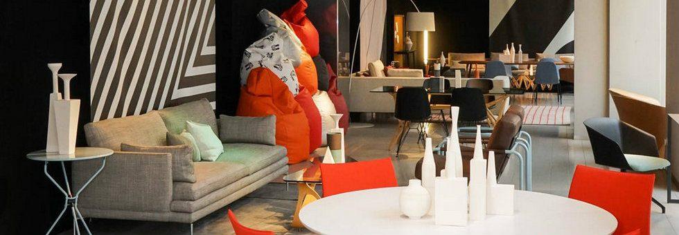 Best Showrooms in Milan - Ceramiche Milesi decorates Zanotta store