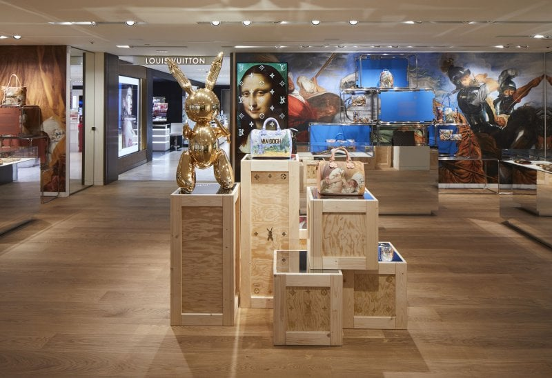 Louis Vuitton La rinascente store by Jeff Koons
