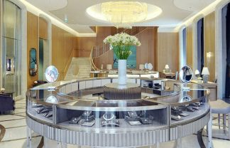 Tiffany Milan store luxury interiors