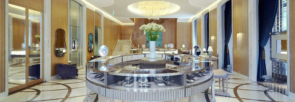 Tiffany Milan store luxury interiors Milan jewelry stores Milan jewelry stores – Tiffany opened at Piazza Duomo Tiffany at Piazza di Duomo 980x340