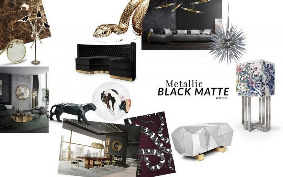 See some Top Furniture Trends By Top Luxury Brands for 2020! top furniture trends See some Top Furniture Trends By Top Luxury Brands for 2020! MetallicBlack Moodboard