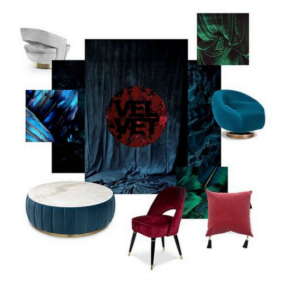 See some Top Furniture Trends By Top Luxury Brands for 2020! top furniture trends See some Top Furniture Trends By Top Luxury Brands for 2020! Velvet Moodboard