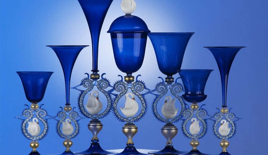 italian craftsmanship The Most Exquisite Italian Craftsmanship the world has seen Cesare Toffolo Swan Goblets