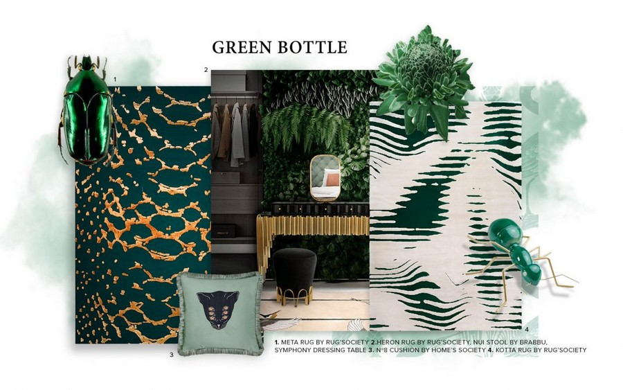 Bring nature into the house with the Bottle Green trend bottle green Bring nature into the house with the Bottle Green trend Bring nature into the house with the Bottle Green trend 1